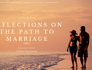 Reflections on the Path to Marriage, PART 1